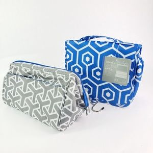 Travel Hanging Valet and Cosmetic Makeup Bag